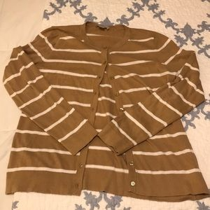 Loft Striped Cardigan Size Medium